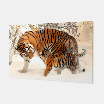 Thumbnail image of Animals Big Cats - Tiger In The Snow  Canvas, Live Heroes