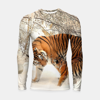 Thumbnail image of Animals Big Cats - Tiger In The Snow  Longsleeve rashguard , Live Heroes
