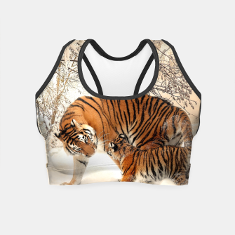 Thumbnail image of Animals Big Cats - Tiger In The Snow  Crop Top, Live Heroes