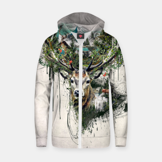 Thumbnail image of Deer Zip up hoodie, Live Heroes