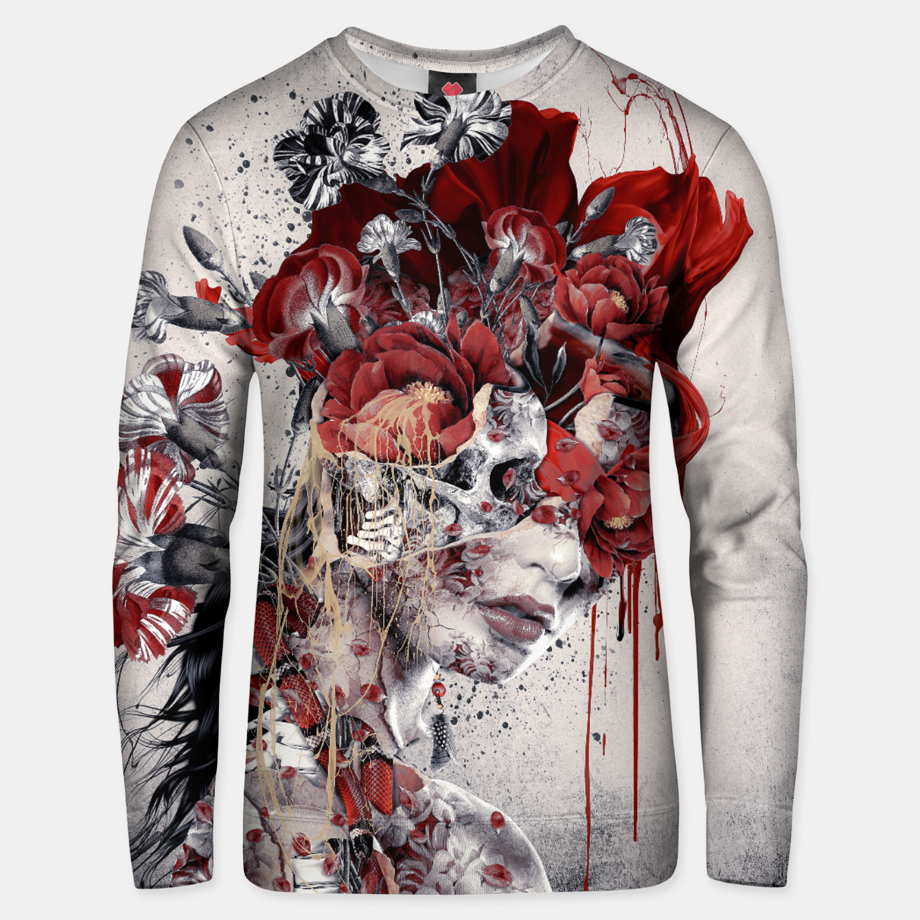 Image of Queen Of Skull II Unisex sweater - Live Heroes