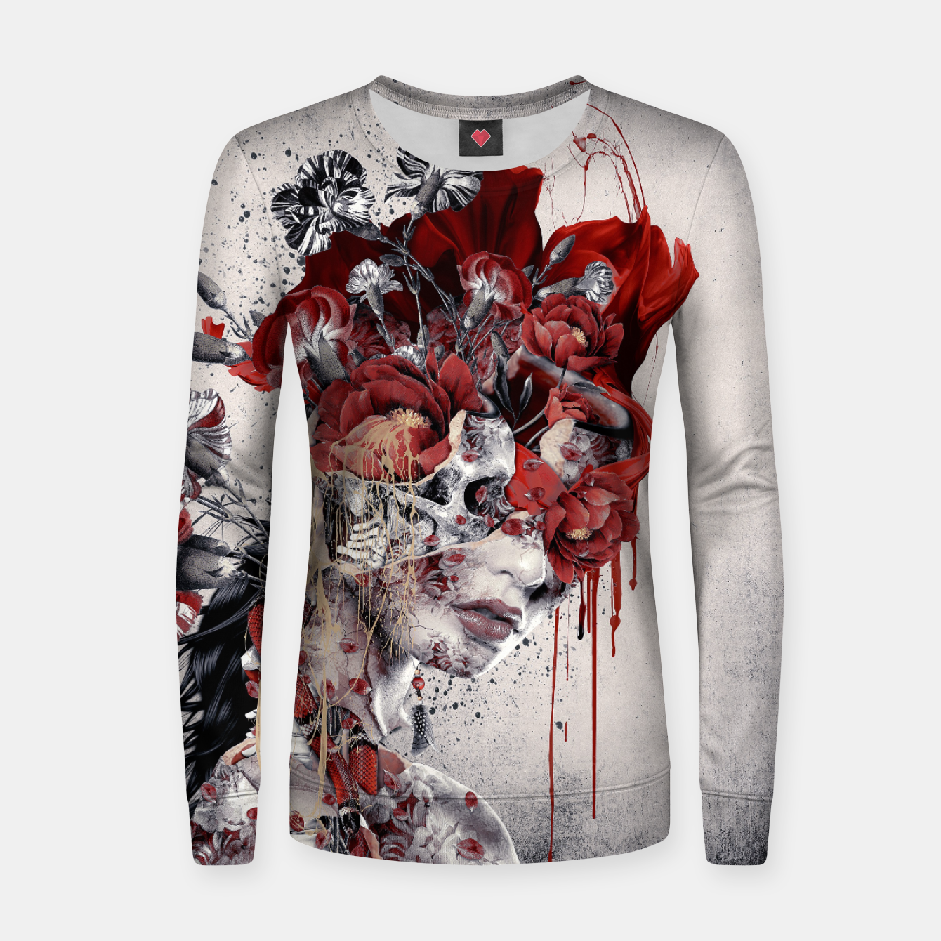 Image de Queen Of Skull II Women sweater - Live Heroes