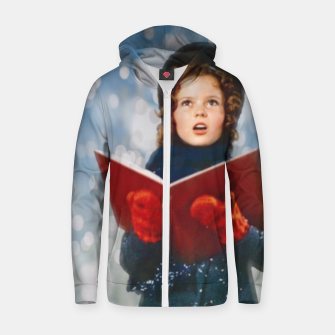Miniatur Shirley Temple Christmas Carol Zip up hoodie, Live Heroes