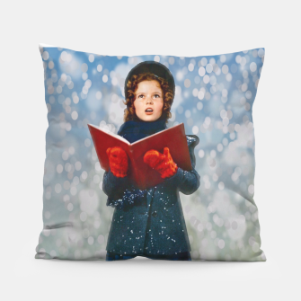 Miniatur Shirley Temple Christmas Carol Pillow, Live Heroes