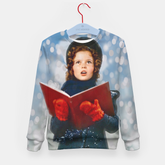 Miniatur Shirley Temple Christmas Carol Kid's sweater, Live Heroes