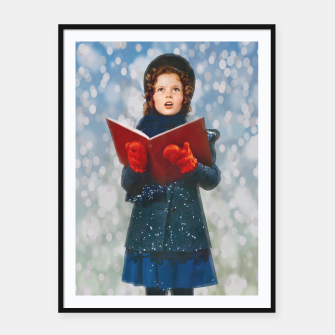 Thumbnail image of Shirley Temple Christmas Carol Framed poster, Live Heroes