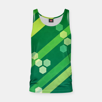 Miniatur Hexagons n' Line Tank Top, Live Heroes