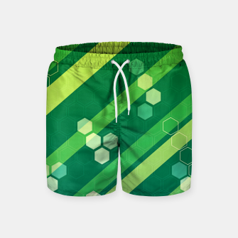 Miniatur Hexagons n' Line Swim Shorts, Live Heroes