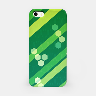 Miniatur Hexagons n' Line iPhone Case, Live Heroes
