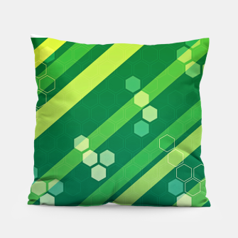 Miniatur Hexagons n' Line Pillow, Live Heroes