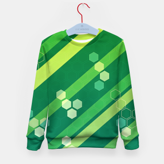 Miniatur Hexagons n' Line Kid's sweater, Live Heroes