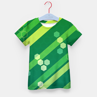 Miniatur Hexagons n' Line Kid's t-shirt, Live Heroes