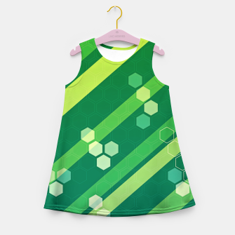 Miniatur Hexagons n' Line Girl's summer dress, Live Heroes