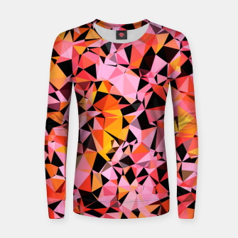 geometric triangle pattern abstract in pink yellow black Women sweater Bild der Miniatur