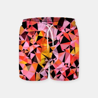 Thumbnail image of geometric triangle pattern abstract in pink yellow black Swim Shorts, Live Heroes