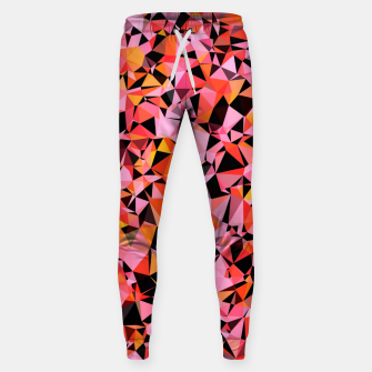 Miniatur geometric triangle pattern abstract in pink yellow black Sweatpants, Live Heroes