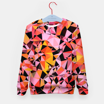 geometric triangle pattern abstract in pink yellow black Kid's sweater Bild der Miniatur