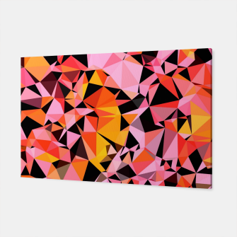 geometric triangle pattern abstract in pink yellow black Canvas Bild der Miniatur