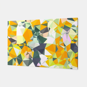 Thumbnail image of geometric triangle pattern abstract in orange green yellow Canvas, Live Heroes