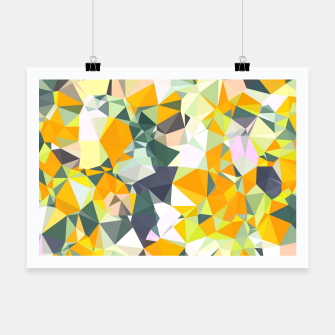Thumbnail image of geometric triangle pattern abstract in orange green yellow Poster, Live Heroes