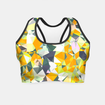 Thumbnail image of geometric triangle pattern abstract in orange green yellow Crop Top, Live Heroes