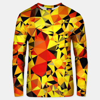 Thumbnail image of geometric triangle pattern abstract in orange yellow red Unisex sweater, Live Heroes
