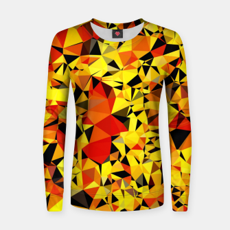 Thumbnail image of geometric triangle pattern abstract in orange yellow red Women sweater, Live Heroes