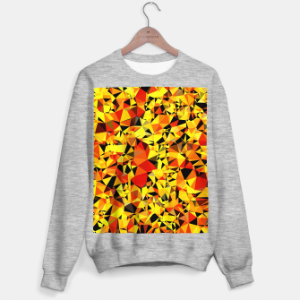 Thumbnail image of geometric triangle pattern abstract in orange yellow red Sweater regular, Live Heroes