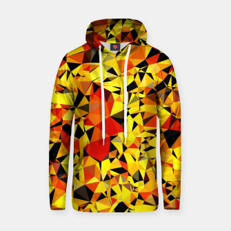 Thumbnail image of geometric triangle pattern abstract in orange yellow red Hoodie, Live Heroes
