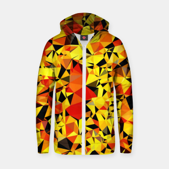 Thumbnail image of geometric triangle pattern abstract in orange yellow red Zip up hoodie, Live Heroes