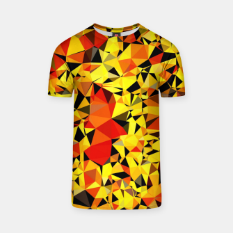 Thumbnail image of geometric triangle pattern abstract in orange yellow red T-shirt, Live Heroes