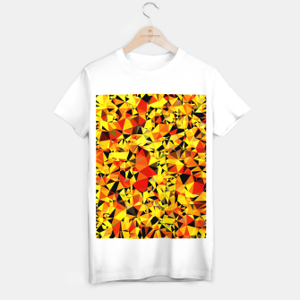 Thumbnail image of geometric triangle pattern abstract in orange yellow red T-shirt regular, Live Heroes