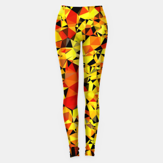 Thumbnail image of geometric triangle pattern abstract in orange yellow red Leggings, Live Heroes
