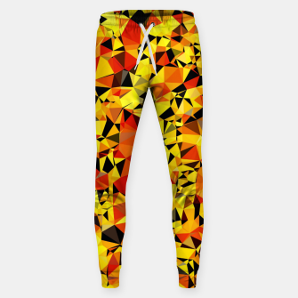 Thumbnail image of geometric triangle pattern abstract in orange yellow red Sweatpants, Live Heroes