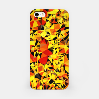 Thumbnail image of geometric triangle pattern abstract in orange yellow red iPhone Case, Live Heroes