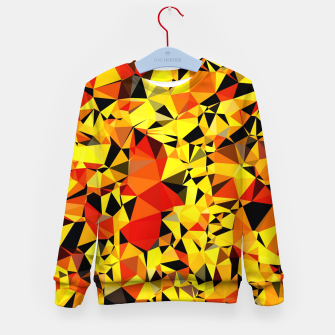 Thumbnail image of geometric triangle pattern abstract in orange yellow red Kid's sweater, Live Heroes