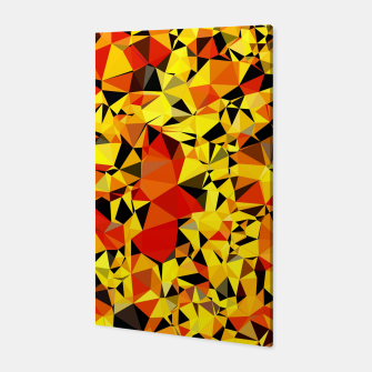 Thumbnail image of geometric triangle pattern abstract in orange yellow red Canvas, Live Heroes