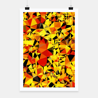 Thumbnail image of geometric triangle pattern abstract in orange yellow red Poster, Live Heroes