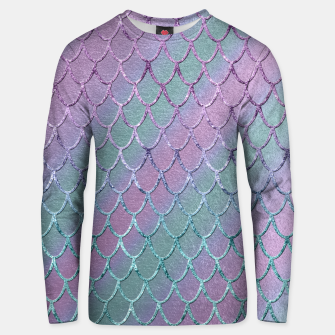 Thumbnail image of Mermaid Princess Glitter Scales Glam #1 #shiny #stripes #decor #art  Unisex sweatshirt, Live Heroes
