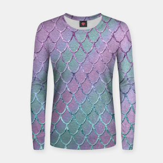 Thumbnail image of Mermaid Princess Glitter Scales Glam #1 #shiny #stripes #decor #art  Frauen sweatshirt, Live Heroes