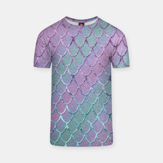 Thumbnail image of Mermaid Princess Glitter Scales Glam #1 #shiny #stripes #decor #art  T-Shirt, Live Heroes