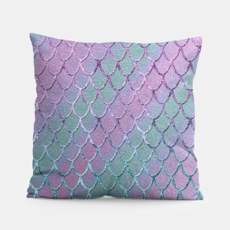Thumbnail image of Mermaid Princess Glitter Scales Glam #1 #shiny #stripes #decor #art  Kissen, Live Heroes