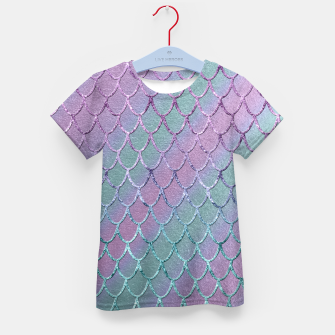 Thumbnail image of Mermaid Princess Glitter Scales Glam #1 #shiny #stripes #decor #art  T-Shirt für kinder, Live Heroes