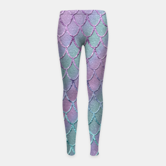 Thumbnail image of Mermaid Princess Glitter Scales Glam #1 #shiny #stripes #decor #art  Kinder-Leggins, Live Heroes