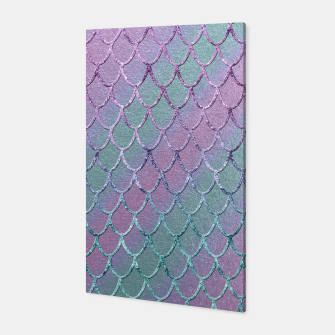 Thumbnail image of Mermaid Princess Glitter Scales Glam #1 #shiny #stripes #decor #art  Canvas, Live Heroes