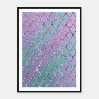Thumbnail image of Mermaid Princess Glitter Scales Glam #1 #shiny #stripes #decor #art  Plakat mit rahmen, Live Heroes
