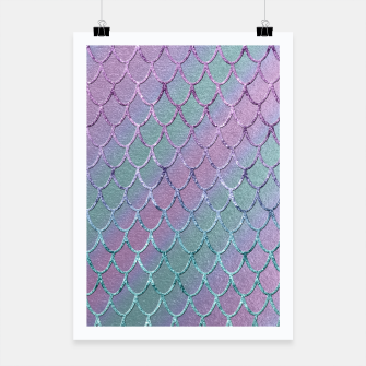 Thumbnail image of Mermaid Princess Glitter Scales Glam #1 #shiny #stripes #decor #art  Plakat, Live Heroes