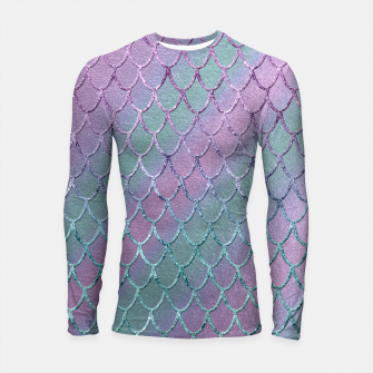 Thumbnail image of Mermaid Princess Glitter Scales Glam #1 #shiny #stripes #decor #art  Longsleeve rashguard, Live Heroes