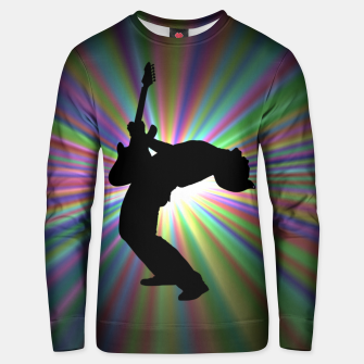 Thumbnail image of Guitarist Unisex sweater, Live Heroes