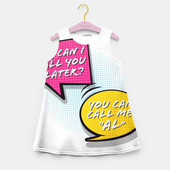 """Thumbnail image of You  can call me """"Al"""" Girl's summer dress, Live Heroes"""
